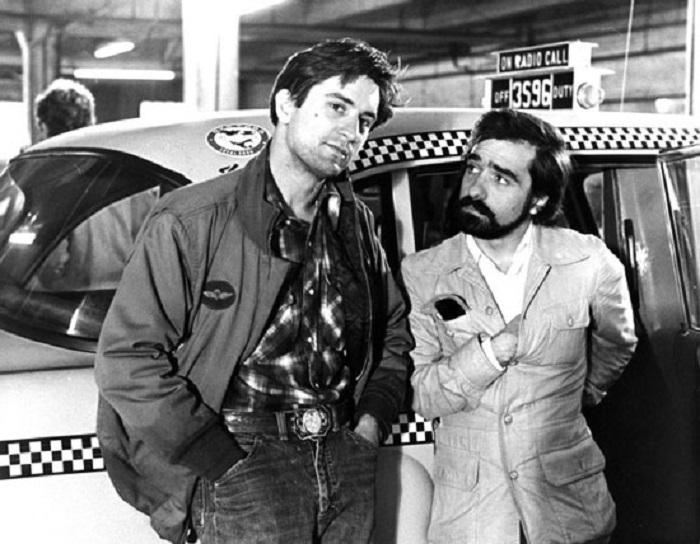 مارتین اسکورسیزی و رابرت دنیرو در پشت صحنه راننده تاکسی