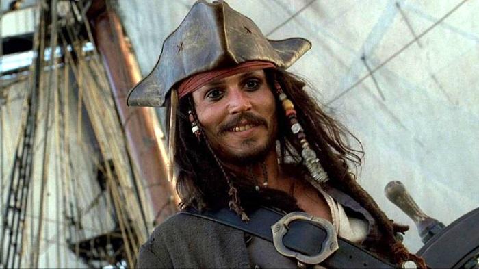 جانی دپ در فیلم دزدان دریایی کارائیب