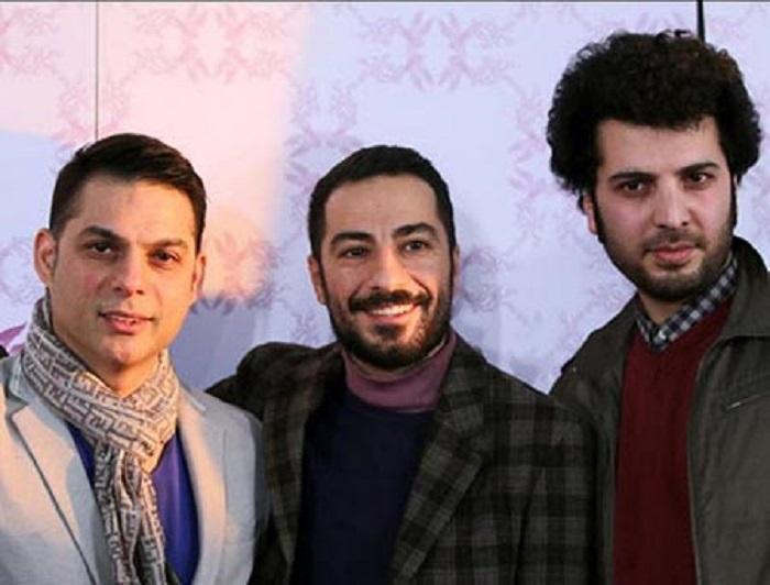 پیمان معادی در کنار سعید روستایی و نوید محمدزاده