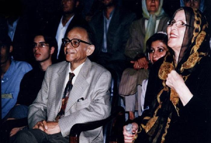 فریدون مشیری و همسرش