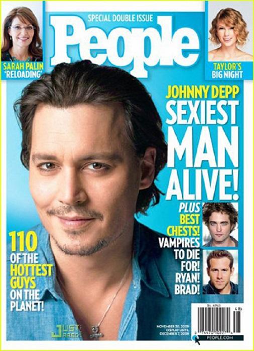 جانی دپ روی جلد مجله پیپل