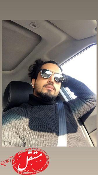 مهرداد صدیقیان در ماشین شخصی اش + عکس