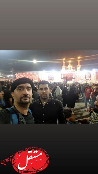 کربلا رفتن آقای مجری + عکس