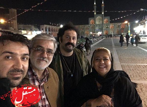 رابعه اسکویی وآقای بازیگر در امیر چخماق + عکس