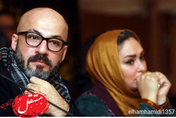 الهام حمیدی در کنار بازیگر خوش استایل + عکس