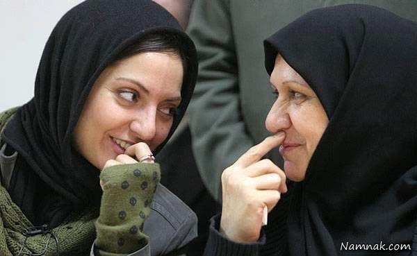 مهناز افشار در کنار مادرش