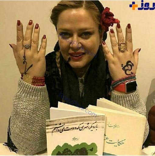 خالکوبی عحیب دستان بهاره رهنما/عکس