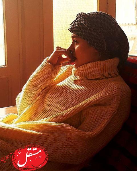خانم بازیگر در ظهر آفتابی پاییزی + عکس