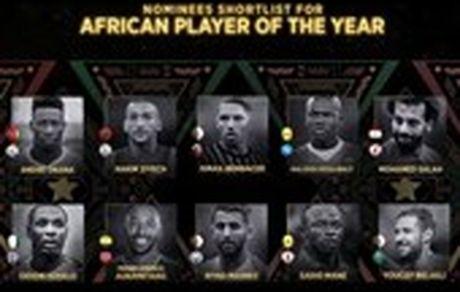 اعلام ۱۰ نامزد نهایی کسب عنوان مرد سال فوتبال آفریقا