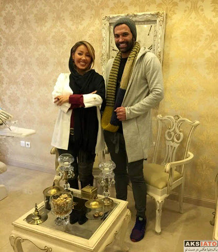 عکس یادگاری علیرضا نیکبخت با خانم دندانپزشک - عکسیاتو | عکس بازیگران