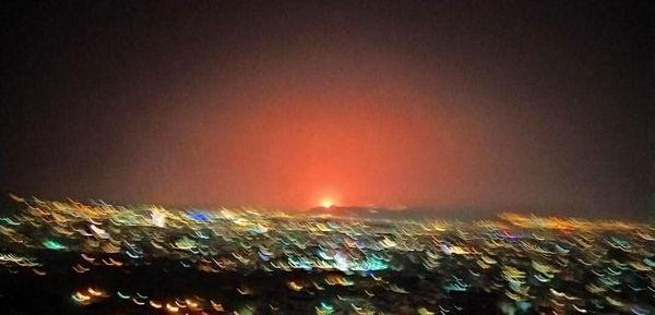 خبر فوری/نور شدید در شرق تهران