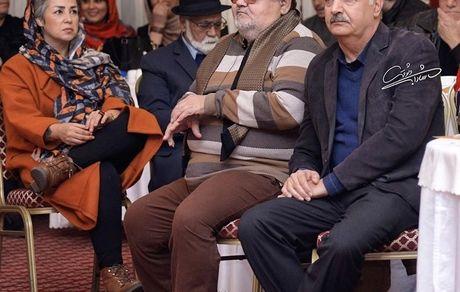 آقای مجری دوست داشتنی در کنار اکبر عبدی + عکس