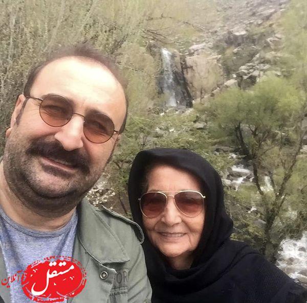 بهبود فریبا و مادرش در دل طبیعت + عکس