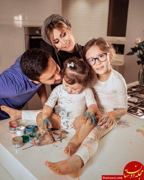 شاهرخ استخری و همسرش سپیده و دخترانش + عکس و بیوگرافی