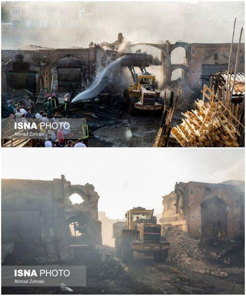 در کجای دنیا بنای تاریخی را برای خاموش کردن آتش خراب میکنند؟