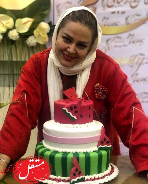 کیک تولد یلدایی بهاره رهنما + عکس
