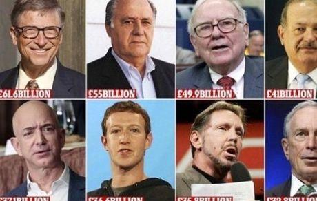 ثروت ۸ نفر به اندازه دارایی نصف مردم جهان است