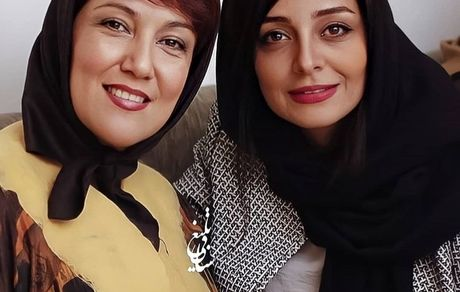 ساره بیات در کنار خانم بازیگر مشهور + عکس