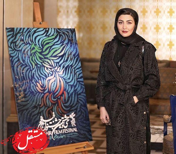 استایل مشکی مریم معصومی در جشنواره + عکس
