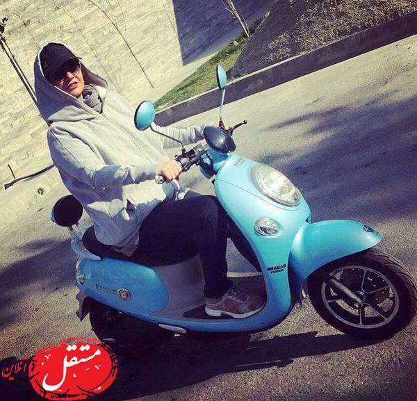 موتورسواری مهناز افشار + عکس