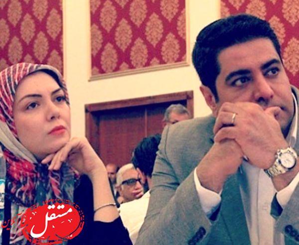 آزاده نامداری و همسرش در یک مراسم +عکس