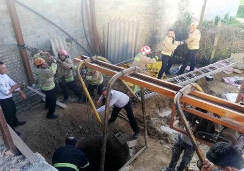 چاه سقوط مرد مازندران