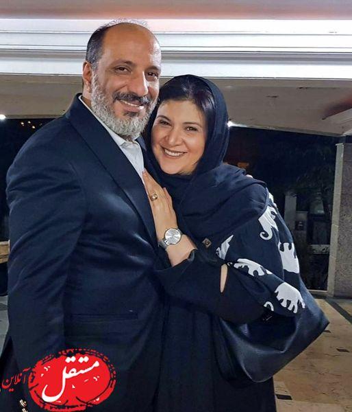 هما خانم پایتخت در آغوش شوهرش + عکس