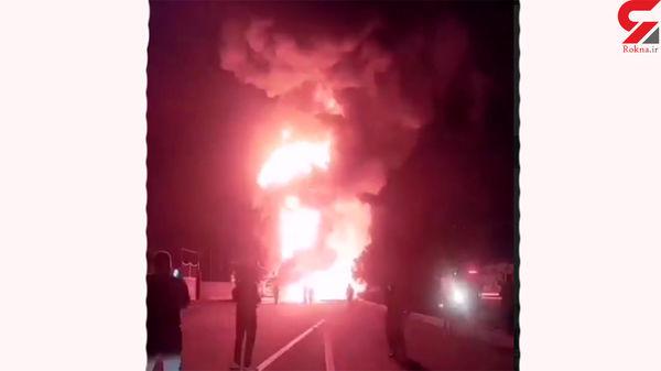 آتش سوزی عظیم در خیابان رجایی تهران