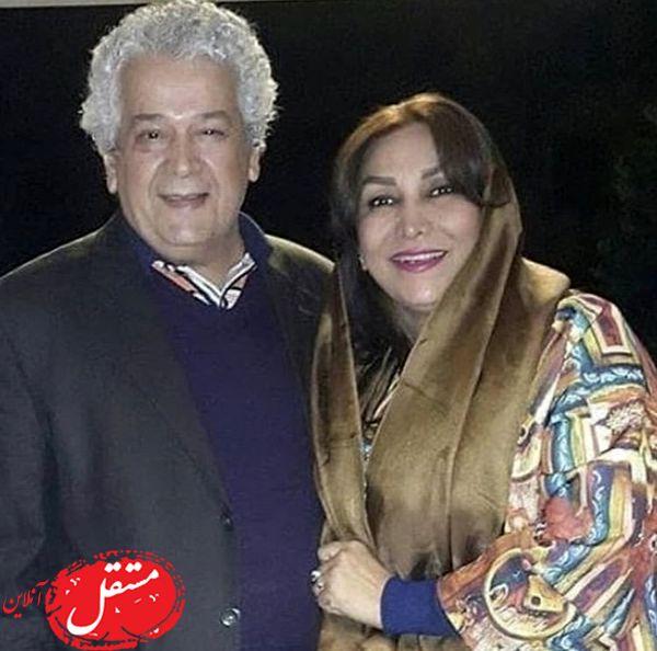 رضا فیاضی و همسرش + عکس