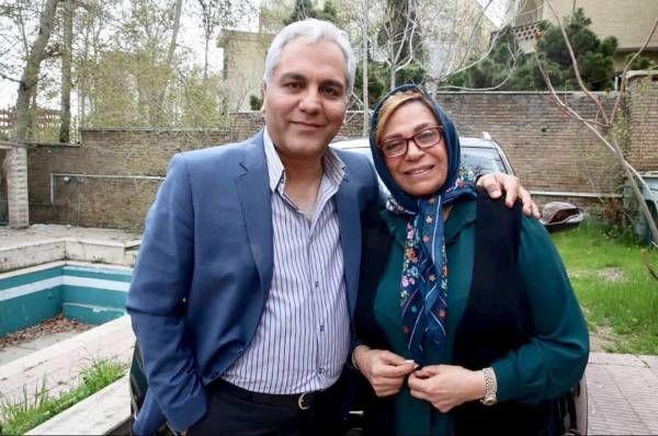 گوهر خیراندیش در بغل مهران مدیری در پشت صحنه  + عکس و بیوگرافی