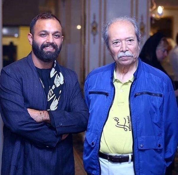 صابر ابر در کنار استاد نصریان + عکس