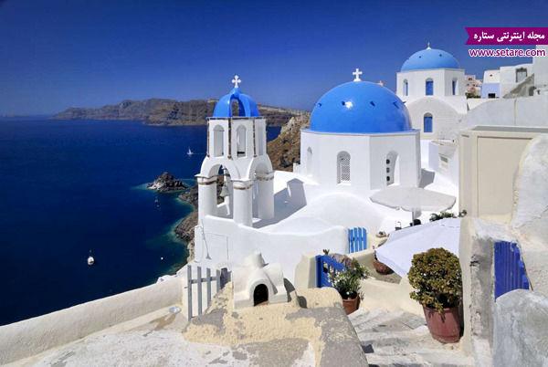 کلیساهای گنبد آبی، سانتورینی، یونان