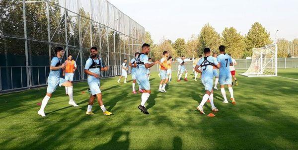 پوشش تمرین تیم ملی توسط شبکه تلویزیونی فرانسه+ عکس