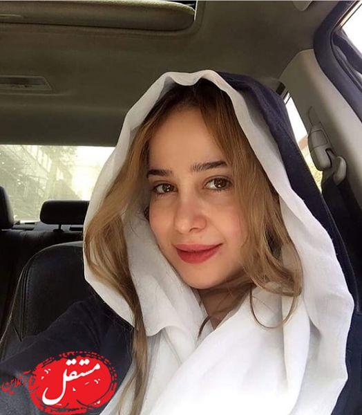 الناز حبیبی در ماشین شخصیش + عکس