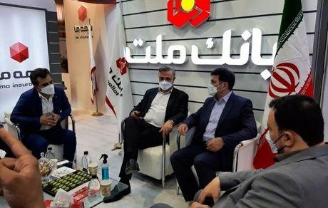 حضور فعال بانک ملت در نمایشگاه توانمندسازی شرکت های منطقه  ماهشهر و بندر امام خمینی(ره)