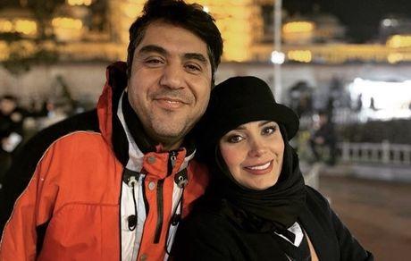 صبا راد و همسرش در خارج از کشور + عکس