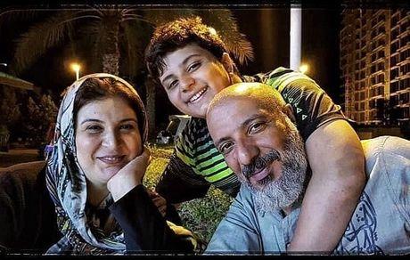 خانواده ی سه نفره همسر محسن تنابنده + عکس