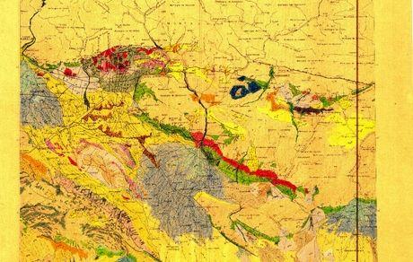 تهیه نقشه زمینشناسی کواترنری تهران از روی اسناد قدیمی به جا مانده در آرشیو گروه زمینشناسی