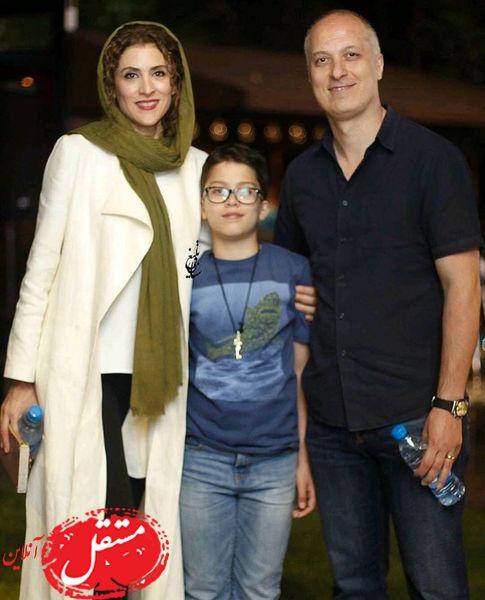 بازیگر نهنگ آبی در کنار همسر و فرزندش + عکس