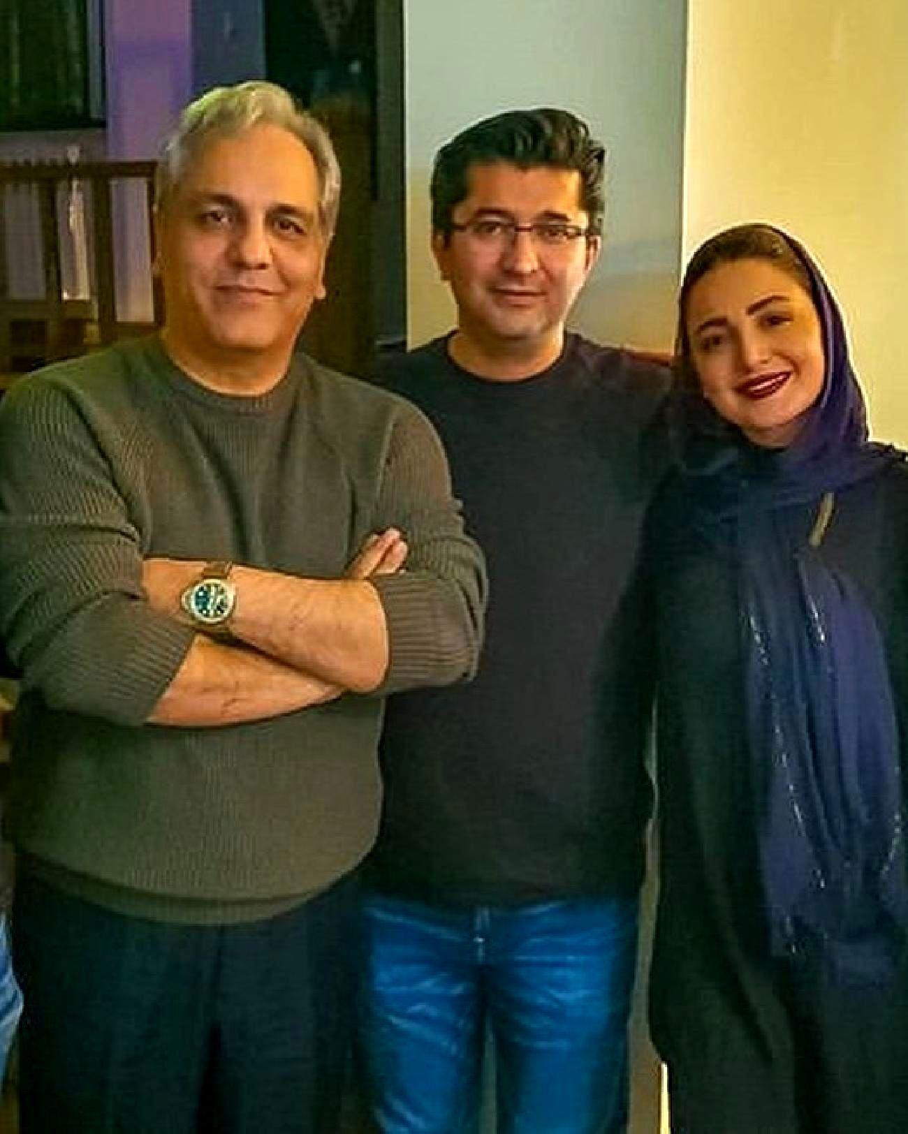 مهران مدیری شیلا خداداد و همسرش