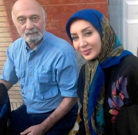 عکس سولمار حصاری در کنار استاد پرویز پورحسینی
