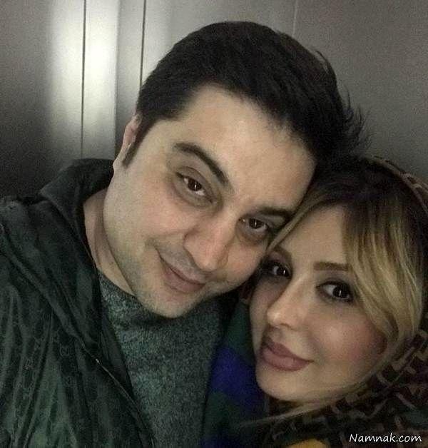 نیوشا ضیغمی در کنار همسرش