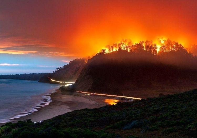 تصویری حیرتانگیز از آتشسوزی عظیم و بیسابقه کالیفرنیا