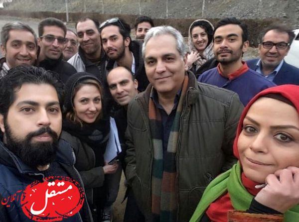 مهران مدیری در میان طرفدارانش + عکس