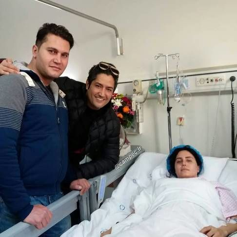 برادر الناز شاکردوست در کنارش در بیمارستان+عکس