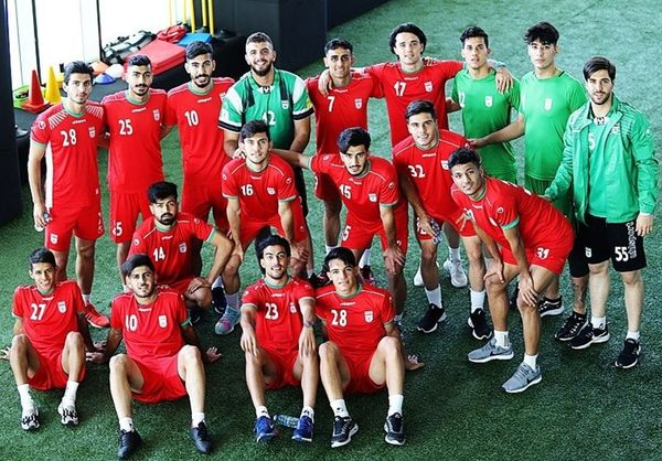 برگزاری تمرین تیم فوتبال امید در مجموعه پِک