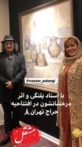 حضور بهاره رهنما در حراجی تهران + عکس