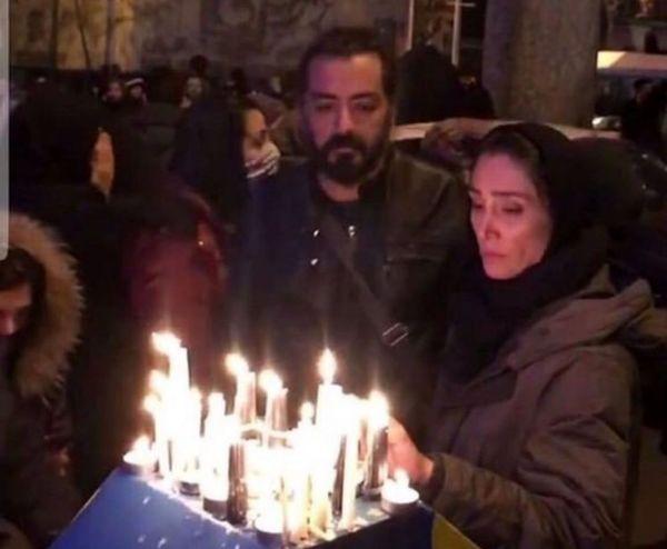 هدیه تهرانی و رضا درمیشیان هم به مردم در خیابان پیوستند