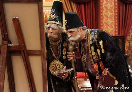هادی کاظمی و جواد عزتی در سریال قهوه تلخ