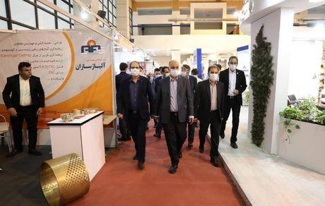 بازدید مهندس ملارحمان از هشتمین نمایشگاه بینالمللی معدن، صنایع معدنی و فرآوری مواد معدنی